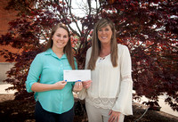 $120 Scholarship Presentation to Alysa Woodall by How Charming Photography Owner Heather Graves